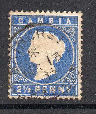 Gambia 2 1/2 Pence Stamp c1886-93 Used