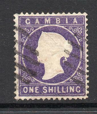 Gambia 1/- Stamp c1886-93 Used