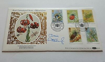 David Attenborough Signed First Day Cover By Benham Royal Entomological Society