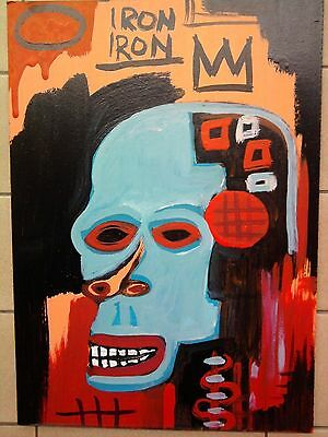 JeanMichel Basquiat --DRAWING -PAINTING ON PANEL