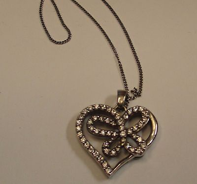 Beautiful 925 Sterling Silver Butterfly Pendant - New With Chain!