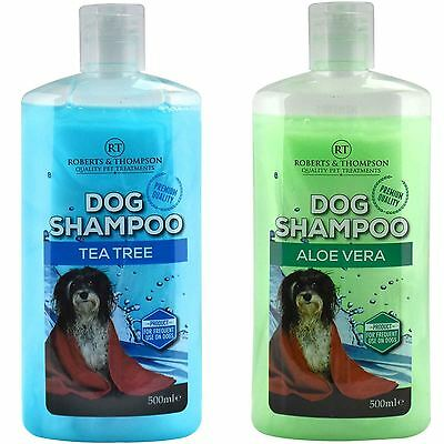 500ml Pet Dog Puppy Grooming Shampoo Aloe Vera Tea Tree Suitable For All Dogs