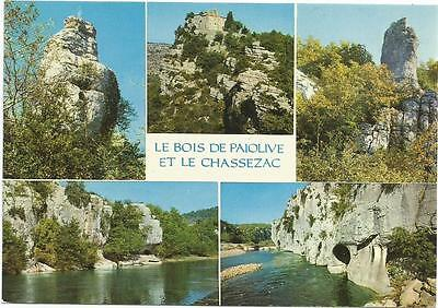 Multiple Views of Paiolive Woods and Chassezac Vivarais France Postcard