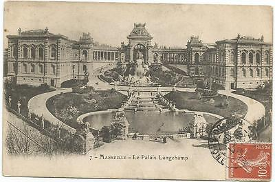 Longchamp Palace Marseille France Postcard 1905
