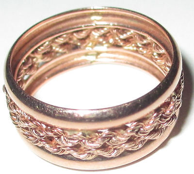 New Pink 10K Gold Knotted Band Ring - Size 7