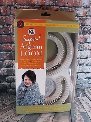 """Authentic knitting board 60"""" Wide Super Afghan Loom kit Knit a 60"""" wide KB8000"""