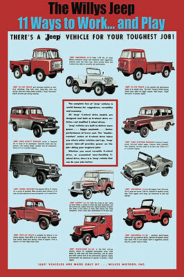 Willys Jeep 11 Ways to work and play. Surrey ,Wagon FC -150