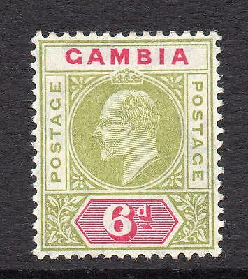 Gambia 6d Stamp c1904-06 Mounted Mint