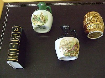 4 Rutherfords Scotch Whisky Miniature Decanters