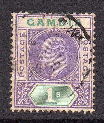 Gambia 1/- Stamp c1904-06 Used