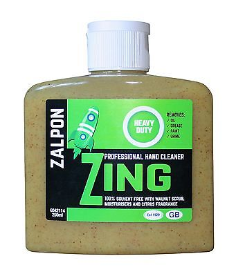 ROZALEX Zalpon Zing Heavy-Duty Hand Cleaner with Walnut Scrub - 250ml