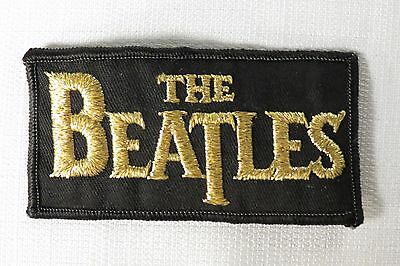 Beatles Vintage Bass Drum Logo Sew On Embroidered Patch Excellent Condition!
