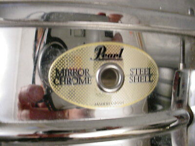 PEARL STEEL SHELL 6x14 MIRROR CHROME SNARE DRUM