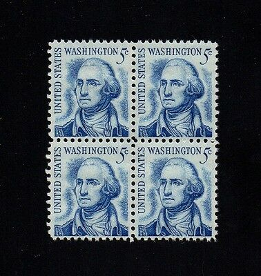 US #1283Be Washington:Tagging Omitted ERROR stamp block of 4. MNH