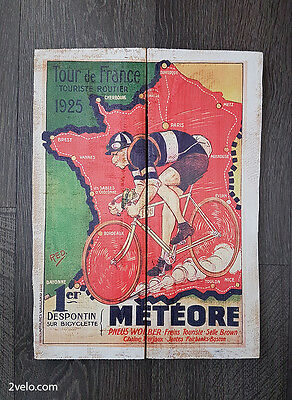 Cycling wood print, vintage style poster, retro bicycle ads Tour De France