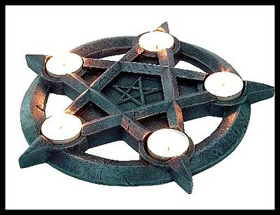 NEMESIS NOW PENTAGRAM T/LITE HOLDER Gothic/Occult/Wicca