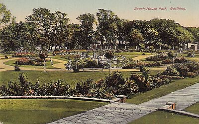 """PPC of """" Beach House Park , Worthing """"  posted 1928"""