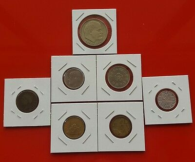 LOT of 7 Mixed World Coins