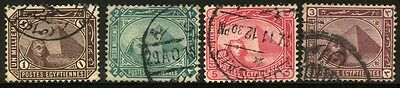 1888/1892 EGYPT SET OF 4 USED STAMPS (Michel # 36x,37x,38ax,40x)