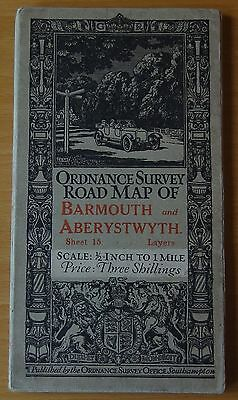 "Ordnance Survey 1/2"" Map  Sheet 15 Barmouth and Aberystwyth Layers"