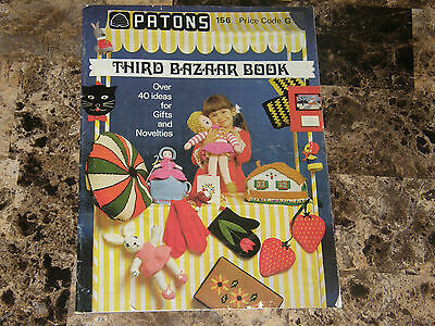 Vintage Patons 3rd Bazaar Book sewing crochet knit craft patterns -