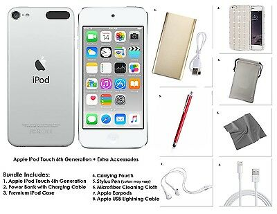 Apple iPod Touch 32GB - Silver + Extra Accessories, 6th Gen. *NEW MODEL 2015