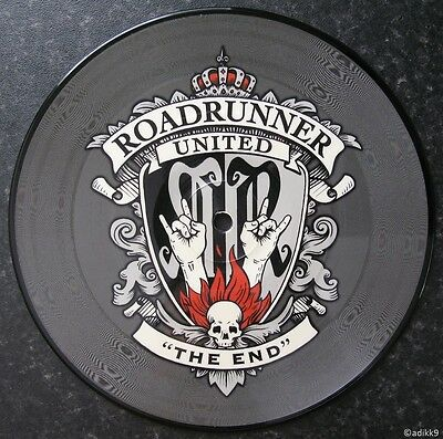 "Roadrunner United - The End, 7"" Picture Vinyl Single, Brand New Record Disc"