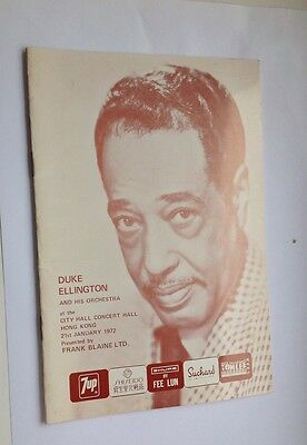 Brochure issued with Duke Ellington Concert in Hong Kong 1972