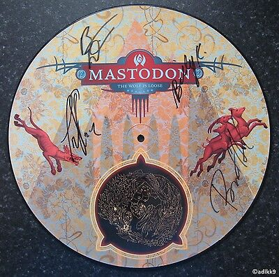 """Mastodon - The Wolf Is Loose, 12"""" Picture Vinyl, Signed Autographed Record Disc"""