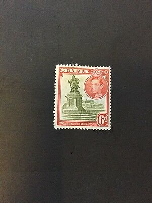 Malta 1938 KGVI Sg 225 6d olive & red MH