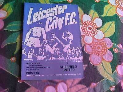 Leicester City v Sheffield United Football League Division 1 1971