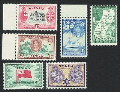 Tonga 50th Anniversary of Treaty of Friendship with Great Britain  6v some