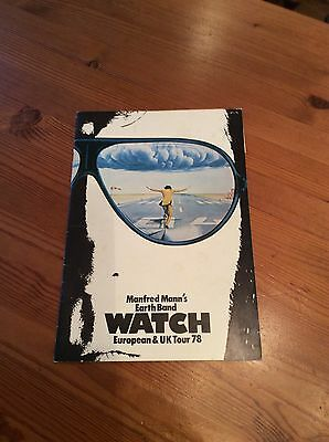 Manfred Manns Watch Tour programme with ticket