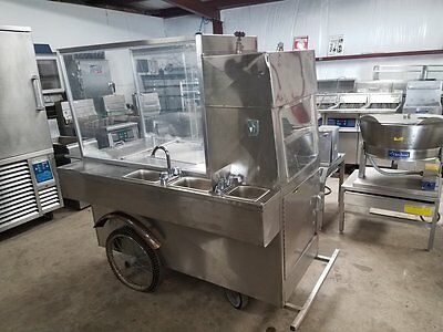 Stainless Steel Concession Cart Hot