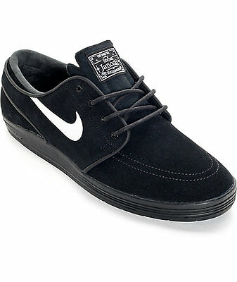 NIB Nike SB Lunar Stefan Janoski Shoes. Black/White 654857-005.  11.5