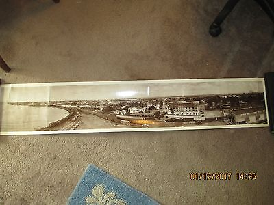 54 Inches Long By 10 Inches High B&w Picture Of Cristobal& Colon Panama