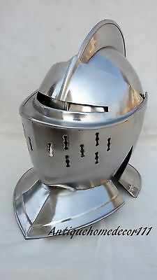 NEW Medieval European Closed Knights Armor Helmet Best Gift for Larp Role Play