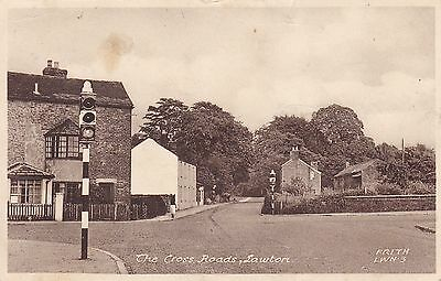 """RPPC of """" The Cross Roads , Lawton """" posted ? 1954"""