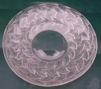 "Super French Rene Lalique "" Ormeaux "" Glass Charger Plate"