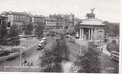 """RPPC of """" Hyde Park corner , London """" posted ? 1950"""