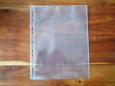 10 X Banknote Ephemera 1 Pocket A4 Plastic Archival Storge Sleeves Page Leaf