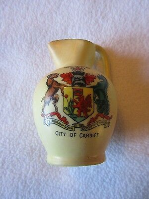 Crested Jug with City of Cardiff Crest Locke & Co Worcester