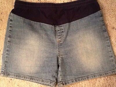 Oh Baby By Motherhood Maternity M Blue Jean Shorts