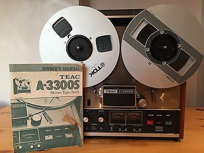VINTAGE TEAC A-3300S REEL TO REEL PLAYER RECORDER - With Original Owners Manual