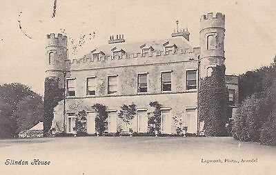 """RPPC of """" Slindon House """" posted 1908"""