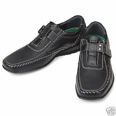 Top Band Black Casual Dress Loafers Mens Shoes US 10.5
