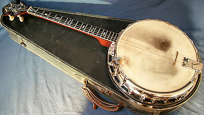"Rare Banjo, stamped "" Monarch  J G Abbott & Co, Makers, London """