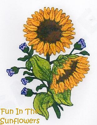 Fun In The Sunflowers - Machine Embroidery Designs On Cd