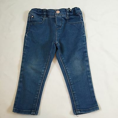 Zara blue denim skinny fit jeans trousers baby girls 12-18 Months clothes