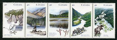 Weeda Canada 1325ai VF mint NH unfolded strip of 5, 1991 Annual Collection CV$7+